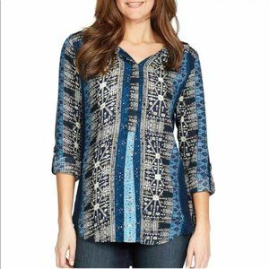 NWT Nine West Lucy Tapestry Blouse